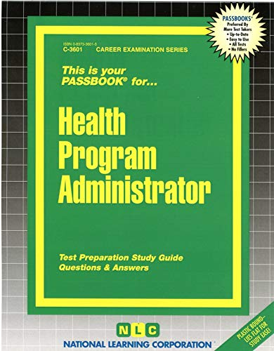 9780837336015: Health Program Administrator(Passbooks)