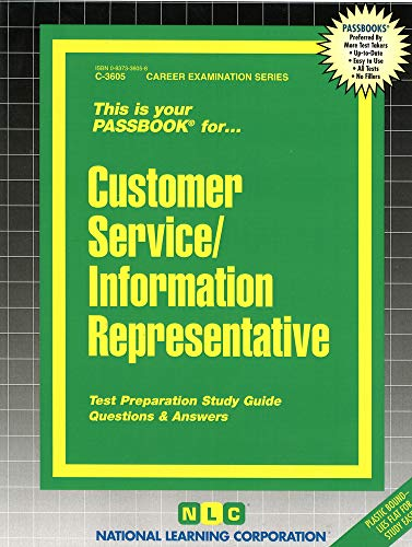 9780837336053: Customer Service Representative(Passbooks