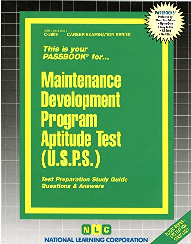 9780837336091: Maintenance Development Program Aptitude Test (USPS)(Passbooks)
