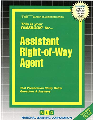 9780837336251: Assistant Right-of-Way Agent(Passbooks) (Career Examination Series)