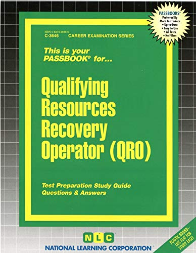 9780837336466: Qualifying Resources Recovery Operator (QRO)(Passbooks)