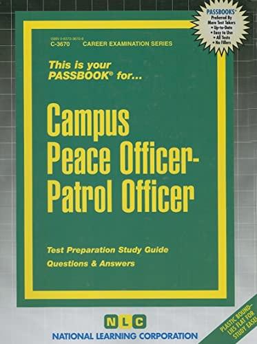 9780837336701: Campus Peace Officer -Patrol Officer(Passbooks) (Career Examination Passbooks)
