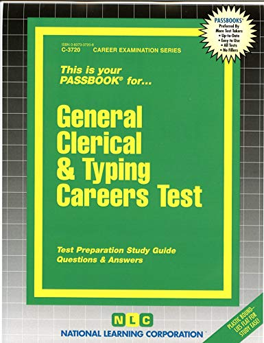 9780837337203: General Clerical & Typing Careers Test(Passbooks) (Career Examination Ser. ; Series 1)