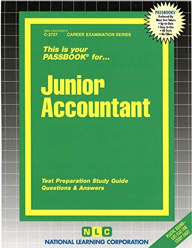 Junior Accountant(Passbooks) (Career Examination Ser : Cs-27): Rudman, Jack