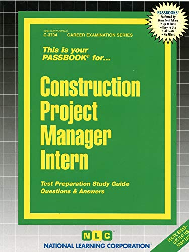 9780837337340: Construction Project Manager Intern(Passbooks) (Passbook for Career Opportunities)
