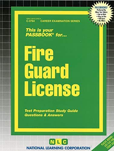 9780837337647: Fire Guard License(Passbooks)