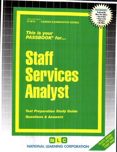 9780837338101: Staff Services Analyst(Passbooks) (Career Examination Series Volume C-3810)