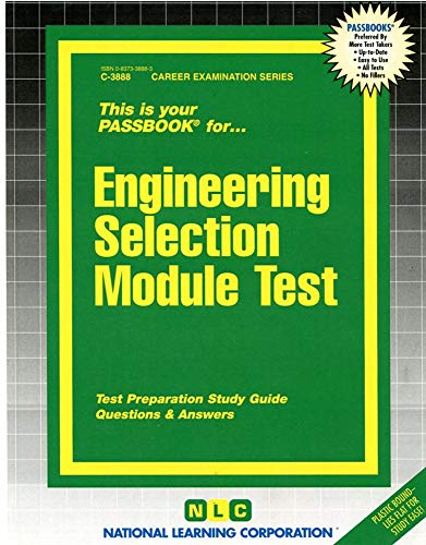 9780837338880: Engineering Selection Module Test(Passbooks) (Career Examination Passbooks)