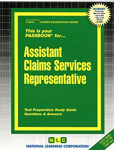 9780837339108: Assistant Claims Services Representative(Passbooks) (Career Examination Series)