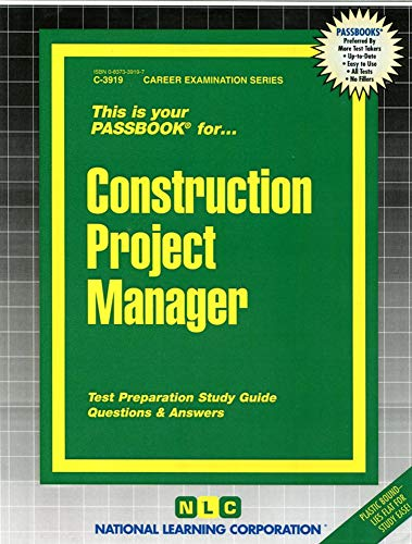 9780837339191: Construction Project Manager(Passbooks) (Career Examination Passbooks)