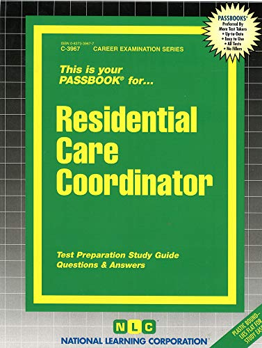 9780837339672: Residential Care Coordinator(Passbooks)