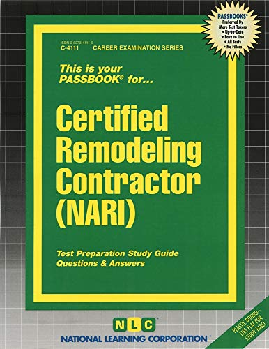 9780837341118: Certified Remodeling Contractor (NARI)(Passbooks)