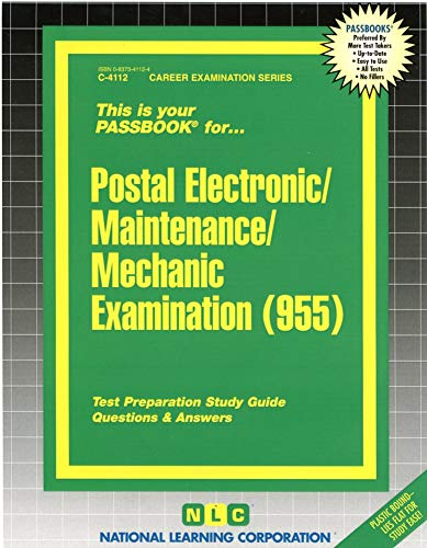 9780837341125: Postal Electronic/Maintenance/Mechanic Examination (955): Test Preparation Study Guide, Questions & Answers (Passbook)