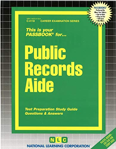 9780837341187: Public Records Aide(Passbooks) (Career Examination Passbooks)