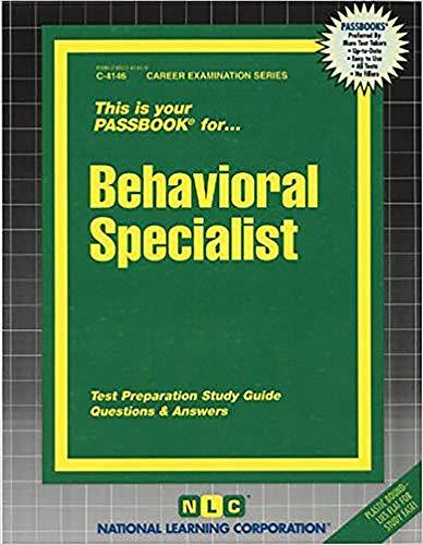 9780837341460: Behavioral Specialist(Passbooks)
