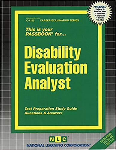 9780837341552: Disability Evaluation Analyst(Passbooks)