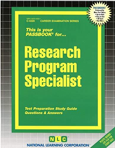9780837342207: Research Program Specialist(Passbooks)