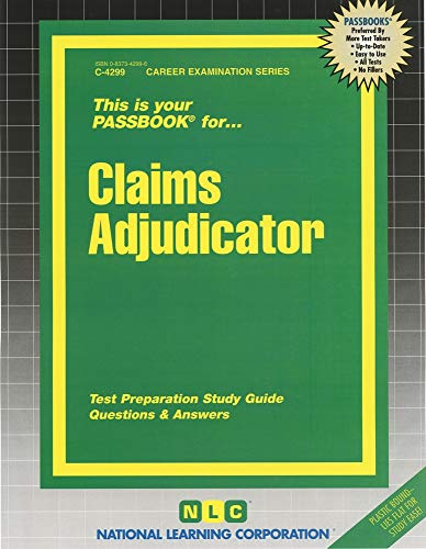 9780837342993: Claims Adjudicator (Passbooks)