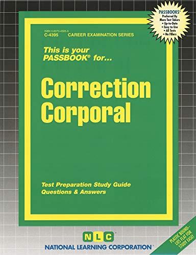9780837343952: Correction Corporal (Passbooks)