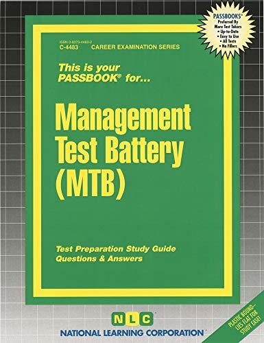 9780837344836: Management Test Battery (MTB) (Passbooks)