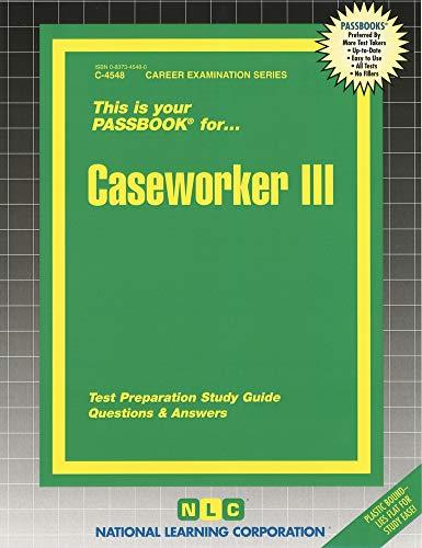 9780837345482: Caseworker III (Passbooks)