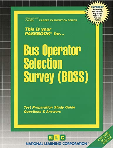 9780837345536: Bus Operator Selection Survey (BOSS) (Passbooks)