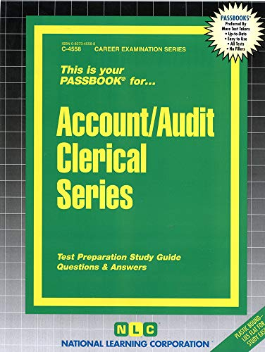 9780837345581: Account/Audit Clerical Series (Passbooks)