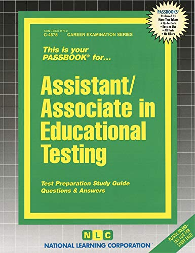 9780837345789: Assistant/Associate in Educational Testing (Passbooks)
