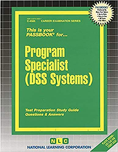 9780837345857: Program Specialist (DSS Systems) (Passbooks)