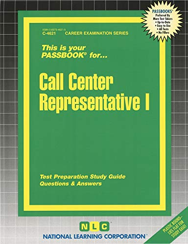 9780837346212: Call Center Representative I (Passbooks) (Career Series (Natl Learning Corp))