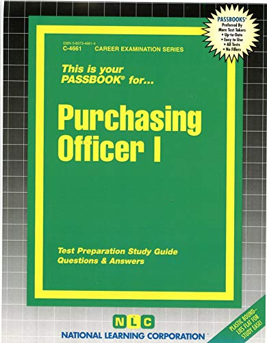 9780837346618: Purchasing Officer I (Passbooks) (Career Series (Natl Learning Corp))