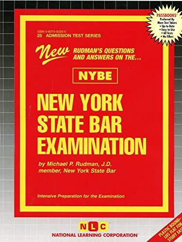 New York State Bar Examination: Passbooks