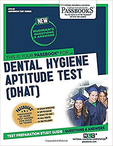 9780837350325: Dental Hygiene Aptitude Test (DHAT) (Admission Test Series)