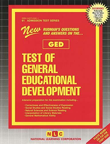 9780837350615: Test of General Educational Development (GED) (Passbooks)