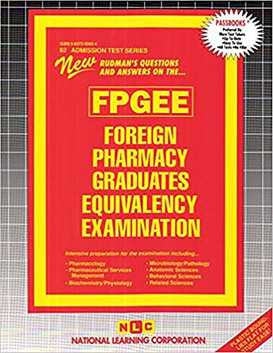 9780837350820: Foreign Pharmacy Graduates Equivalency Examination (Fpgee) (Admission Test Ser .: Ats-82)