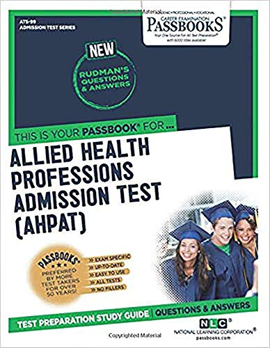 9780837350998: Allied Health Professions Admission Test (Ahpat) (Admission Test Ser)