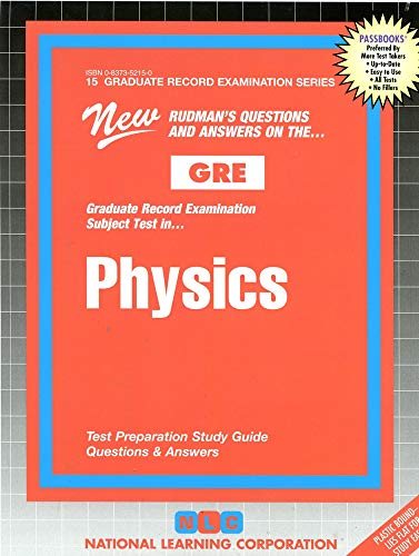 9780837352152: PHYSICS (Graduate Record Examination Series) (Passbooks) (GRADUATE RECORD EXAMINATION SERIES (GRE))
