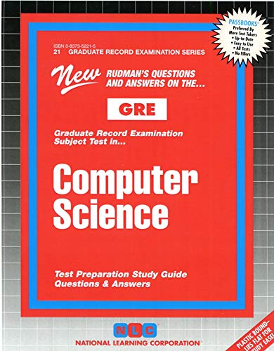 9780837352213: COMPUTER SCIENCE (Graduate Record Examination Series) (Passbooks) (GRADUATE RECORD EXAMINATION SERIES (GRE))