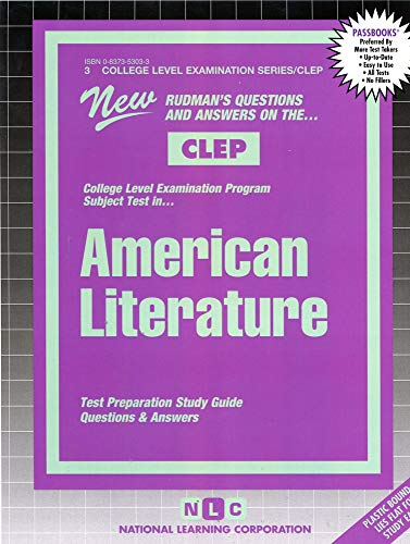 9780837353036: AMERICAN LITERATURE (College Level Examination Series) (Passbooks) (COLLEGE LEVEL EXAMINATION SERIES (CLEP))