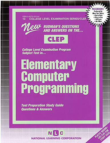 9780837353104: ELEMENTARY COMPUTER PROGRAMMING (College Level Examination Series) (Passbooks) (COLLEGE LEVEL EXAMINATION SERIES (CLEP))