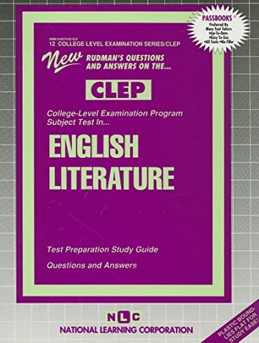9780837353128: ENGLISH LITERATURE (College Level Examination Series) (Passbooks) (COLLEGE LEVEL EXAMINATION SERIES (CLEP))