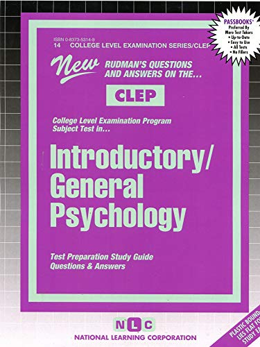 9780837353142: INTRODUCTORY / GENERAL PSYCHOLOGY  (College Level Examination Series) (Passbooks) (COLLEGE LEVEL EXAMINATION SERIES (CLEP))