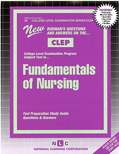 9780837353302: FUNDAMENTALS OF NURSING (College Level Examination Series) (Passbooks) (COLLEGE LEVEL EXAMINATION SERIES (CLEP))