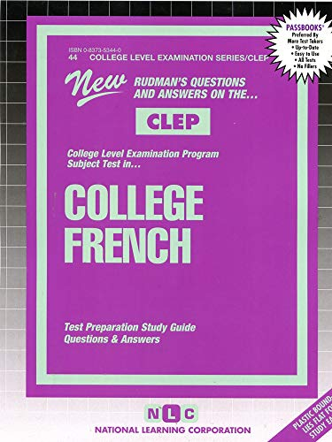 9780837353449: COLLEGE FRENCH (French Language) (College Level Examination Series) (Passbooks) (COLLEGE LEVEL EXAMINATION SERIES (CLEP))