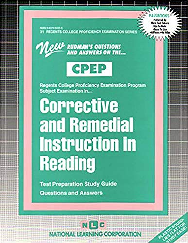 9780837354316: CORRECTIVE AND REMEDIAL INSTRUCTION IN READING (College Proficiency Examination Program Series) (Passbooks) (Regents College Proficiency Examination Series)