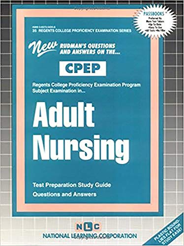 9780837354354: ADULT NURSING (College Proficiency Examination Program Series) (Passbooks) (College Proficiency Examination Series : Clep-35)