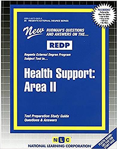 Health Support: Area II (Act Proficiency Examination Program): Jack Rudman