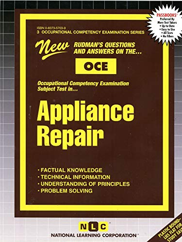 9780837357034: APPLIANCE REPAIR (Occupational Competency Examination Series) (Passbooks) (Occupational Competency Examination Passbooks)