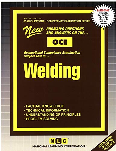9780837357331: WELDING (Occupational Competency Examination Series) (Passbooks) (Occupational Competency Examination Passbooks)