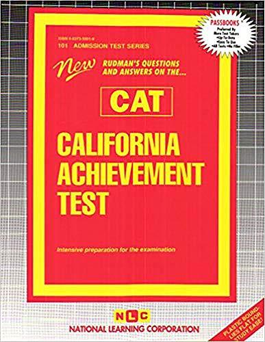 9780837358017: California Achievement Test Cat